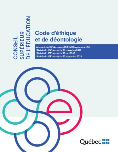 Code d'éthique et de déontologie