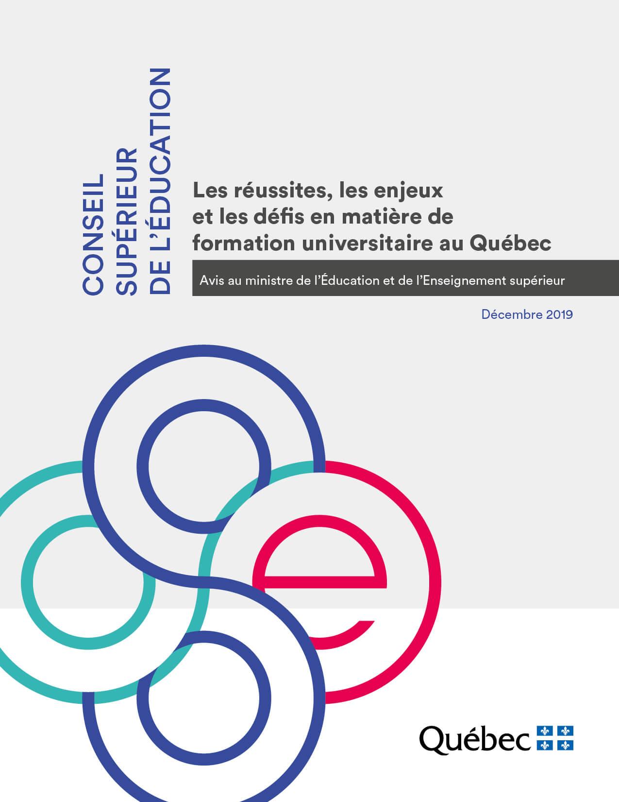 Les réussites, les enjeux et les défis en matière de formation universitaire au Québec